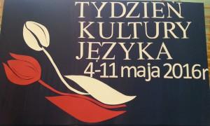 Tydzień Kultury Języka tablica